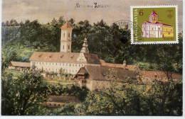 YUGOSLAVIA 1985 Hopovo Monastery 6d On Maximum Card.  Michel 2096 - Maximum Cards