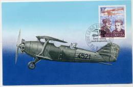 YUGOSLAVIA 1985 Partisan Air Heroes 6d On Maximum Card.  Michel 2109 - Maximum Cards