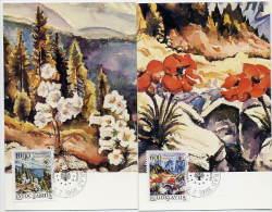 YUGOSLAVIA 1988 European Nature Protection On 2 Maximum Cards.  Michel 2284-85 - Maximum Cards
