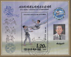 Noord-Korea - 8. Taekwondo-Weltmeisterschaft, Pjöngjang - Michel Block 276 - FD-stempel - Korea (Noord)