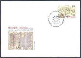 SLOVENIA 2011 Mi 892 Fdc Cover - Religion Churches Medieval Monasteries - Monastery Closter Bistra - Architecture; Books - Slovenia