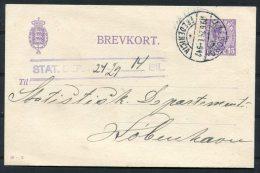 1924 Denmark Brevkort Aalborg - Fredericia TPO Railway Bahnpost - Covers & Documents