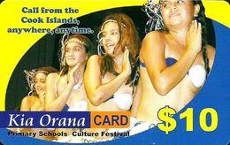 COOK ISLANDS $10 DANCING GIRLS WOMAN PIN READ DESCRIPTION !! - Cook Islands
