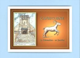 CP AC 80201 - CARTE POSTALE DESSIN Avec Signe Du Zodiaque CAPRICORNE - 80 FLIXECOURT - Flixecourt