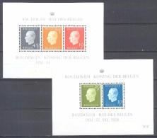 Belgique Bloc-feuillet YT N°50/51 Roi Baudouin Neuf ** - Blokken 1962-....