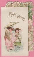 Carte De Voeux - HAPPY WISHES - 1900 - Brrrrrrrrrrrrrrr - Nouvel An