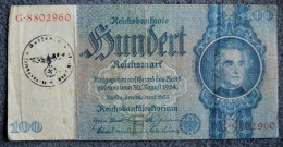 Germany 100 Reichmarks 1935 #8802960 With Nazi Stamp Hitler - [ 4] 1933-1945 : Troisième Reich