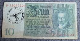 Germany 10 Reichmarks 1929 #33057204 With Nazi Stamp Hitler - [ 4] 1933-1945 : Troisième Reich