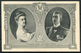 Prinsessan Maria Prins Vilhelm Postcard - Royal Families