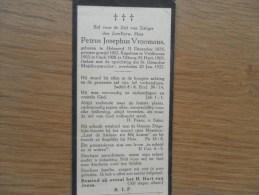 D.P.-EERW.H. KAPELAAN-TILBURG-P.J.VROOMANS°HELMOND 1875+23-1-1922 - Religion & Esotericism