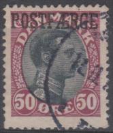 DENMARK -  1920 50 O Claret And Black Parcel Post. Scott Q7. Used - Parcel Post