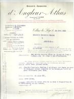 TILLEUR lez LIEGE  societe anonyme d'ANGLEUR ATHUS   charbonnages fours a coke hauts fourneaux ... 28.06.1933