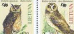 Lithuania - BIRD OWL / Owls  - MINT STAMPS  2004.10.02. MNH - Uilen