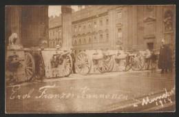 MÜNCHEN Eroberte Französische Kanonen Militaria 20.8.1914, Karte Mit Bayern Briefmarke 18.10.1914 - Ausrüstung