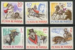 ROUMANIE ROMANIA 1965 Yt 2132 / 2137 ** MNH Fables Et Comtes Cavalier, Ours, Loup, Traineau... - Romania