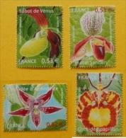(085) France  Flora / Fleurs / Blumen / Bloemen / Orchids   ** / Mnh  Michel 3914-17 - Unclassified
