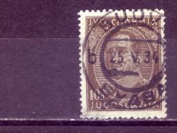 KING ALEXANDER-10 DIN-TII-POSTMARK-BUDVA-MONTENEGRO-YUGOSLAVIA-1931 - 1931-1941 Königreich Jugoslawien