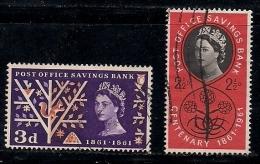 UK 1961 Used Stamp(s) Post Savings Bank 343-345 2 Values Only - 1952-.... (Elizabeth II)
