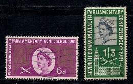 UK 1961 Used Stamp(s) Commonwealth Conference Nrs. 349-350 - 1952-.... (Elizabeth II)