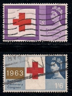 UK 1963 Used Stamp(s) Red Cross Nrs. 362-364 (2 Values Only) - 1952-.... (Elizabeth II)