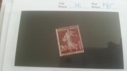 LOT 260467 TIMBRE DE FRANCE NEUF* N�54 VALEUR 85 EUROS