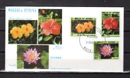 """WALLIS ET FUTUNA 1991 : Enveloppe 1er Jour """" FLORE WALLISIENNE - MATA-UTU Le 02-12-1991 N° YT 420 à 422. Parf état. FDC - Plants"""