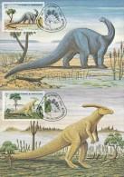 ST. TOME E PRINCIPE - 1982 ,  Dinosaurier , 6 MC , Maximumkarten - Stamps