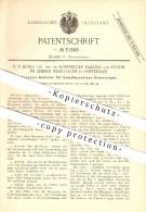 Original Patent - C. P. Holst GZ. Und Die Koninklyle Fabriek Van Stoom In Amsterdam , 1884 , Getriebe , Dampfmaschinen ! - Historische Dokumente