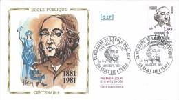 2167 - ECOLE PUBLIQUE  - JULES FERRY - 26-09-1980 SAINT DIE ET PARIS (dessin Timbre HUGUETTE SAINSON) - 1980-1989