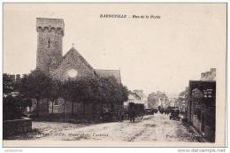 50 BARNEVILLE RUE DE LA POSTE TRES ANIMEES.CPA BON ETAT - Barneville