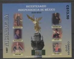 Nicaragua (2011) - Block -  /  Mexican Revolution -  Independencia - Independance - Revolucion Mexico - Storia