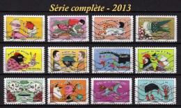 France  - Adhésifs - Y&T N° 789 / 800 Oblitérés - Lot 524 - Francia