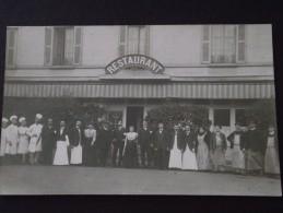 RESTAURANT - Grande Cuisine - Personnel Au Complet - Carte-photo à Situer - Vers 1910 - Cliché TOP ! - Restaurants
