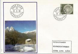 SUISSE. Timbre Cadran Astronomique De La Tour De L'Horloge à Berne,sur  Lettre FDC 1980 Adressée En Suède - Astronomy
