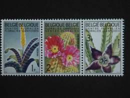 België Belgique Belgium 1965 Floralies Gantoises Vresia Echino Cactus Stapellia Yv COB 1318-1320 MNH ** - Belgien