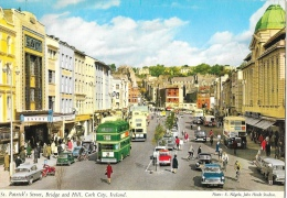 Cork City (Ireland) - St. Patrick's Street, Bridge And Hall - Published By John Hinde - Cork