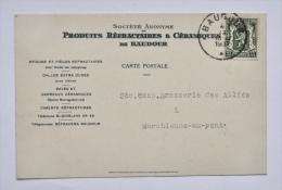 Produits Réfractaires & Céramiques De BAUDOUR / St-GHISLAIN Vers BRASSERIE Des ALLIÉS à MARCHIENNE-AU-PONT, 1937 - Saint-Ghislain