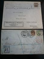 DANMARK  2  Letters - Odense Regist.16.9.1899 16+5o. - Huddersfield Back Arrival - Non Classificati
