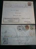 DANMARK  2  Letters - Odense Regist.16.9.1899 16+5o. - Huddersfield Back Arrival - Danimarca