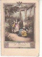 PETIT CALENDRIER BIJOU POUR 1914 PAPETERIE LIBRAIRIE JEANNE D ARC ROUEN - Calendriers