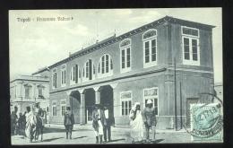 LIBIA - TRIPOLI - 1918 - RISTORANTE VALIANI - VIAGGIATA PER BARI (SENZA INDIRIZZO!!!! ) - Libië
