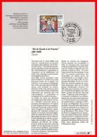 """1996 : NOTICE OFFICIELLE """" LE BAPTEME DE CLOVIS """" N° YT 3024 - FDC"""