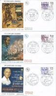 2355-2356-2357-2358-2359-2360 - LES ECRIVAINS CELEBRES - 23-02-1985 PARIS Et Autres -6 FDC - 1980-1989