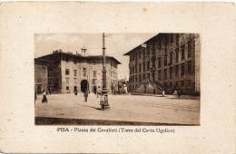 Toscana-pisa-pisa Veduta Piazza Dei Cavalieri Animata Particolare Veduta - Pisa
