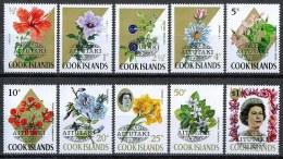 B007 FLORA BLOEMEN FLOWERS FLEURS BLUMEN PLANTEN PLANTS AITUTAKI COOK ISLANDS OVERPRINT 1972 PF/MNH - Végétaux