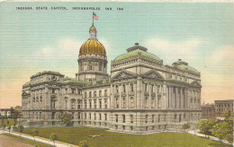 PK.. INDIANA STATE CAPITOL. INDIANAPOLIS IND.104 - Cartes Postales