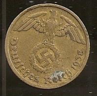 Allemagne, 10 reichspfennig 1938 D (716)