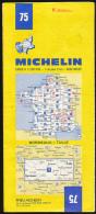 Carte Routière Michelin, France, N° 75, BORDEAUX - TULLE (1982) 1/200.000, 1 Cm Pour 2 Km - Cartes Routières