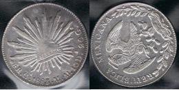 MEXICO 8 REALES CHIHUAGUA 1883 PLATA SILVER - México