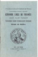 GRANDE LOGE DE FRANCE- FRANCS MACONS.3ème DEGRE SYMBOLIQUE ECOSSAIS-GRADE DE MAITRE 1971 - Old Paper